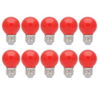 Stück Lampen Für E27 Outdoor Gap Schraube 10 Farbige Glühbirnen Nn80PwOkX