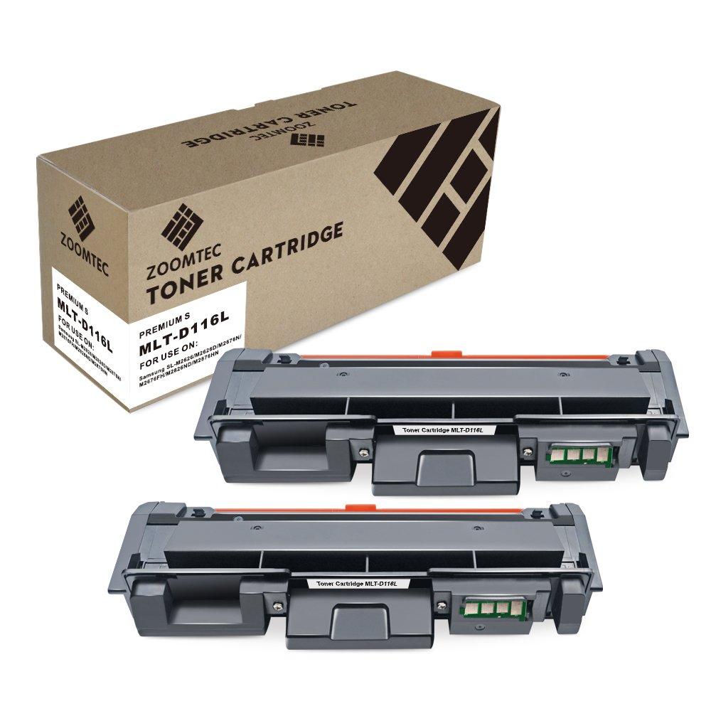 ZOOMTEC MLT-D116L D116L Cartuccia Toner Compatibile per Samsung Xpress SL-M2625 SL-M2625D SL-M2825 SL-M2825DW SL-M2825ND SL-M2675 SL-M2675F SL-M2675N SL-M2675FN SL-M2875 SL-M2875FW SL-M2875FD SL-M2875ND SL-M2885FW (Nero, 1 Pack)
