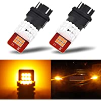 2 Pack AUXITO Amber Yellow LED Chips Bulb with High Bright for Turn Signal Lights Blinker