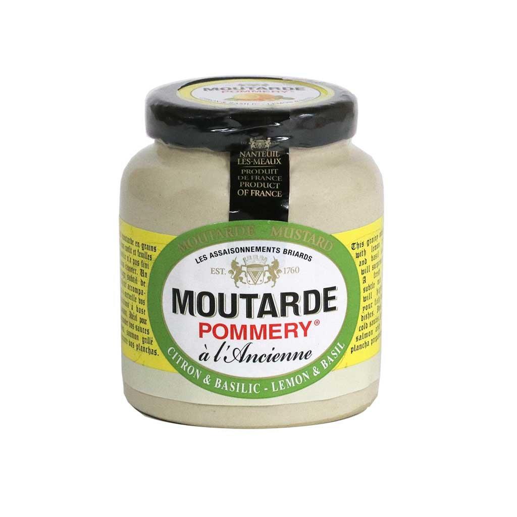 Pommery - Whole Grain Mustard with Lemon & Basil, 100g (3.5 oz)