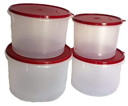 46591569f60 Buy Tupperware Super Plastic Airtight Storage Container - Set of 4 (1 Piece  Large-5 L