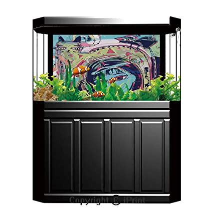 Stupendous Amazon Com Terrarium Fish Tank Background Modern Art Home Download Free Architecture Designs Rallybritishbridgeorg