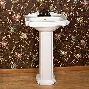 Naiture pedestal fregadero de porcelana en 12 acabados for Fregaderos de porcelana