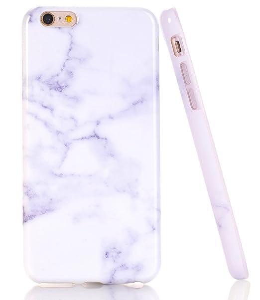 Amazoncom Baisrke White Marble Design Case Slim Flexible Soft