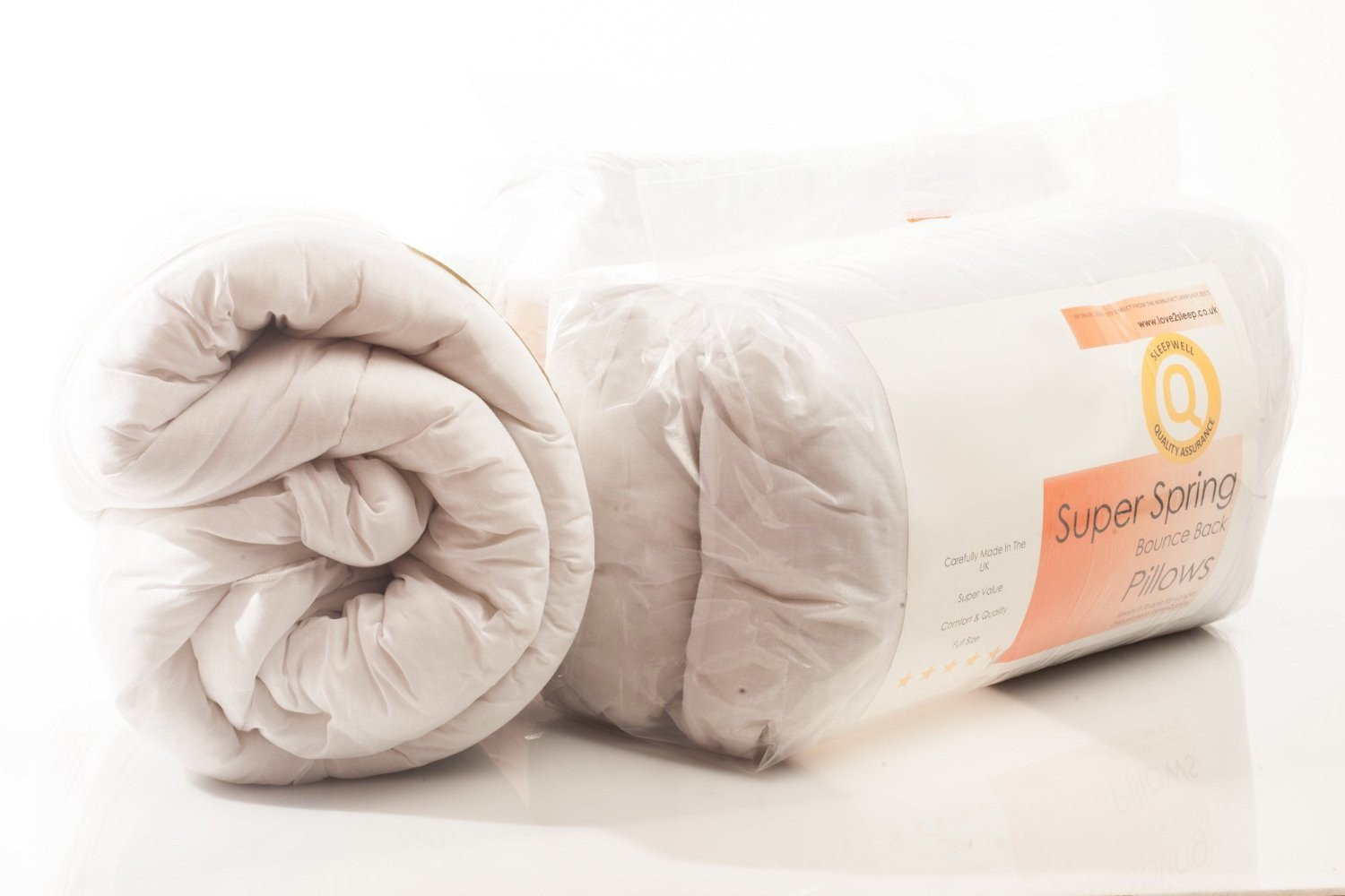 SleepyNights Love2Sleep AMAZING VALUE BUNDLE - SINGLE 4.5 TOG DUVET/QUILT WITH 2 ULTRA BOUNCE PILLOWS NON ALLERGENIC SOFT TOUCH POLY COTTON