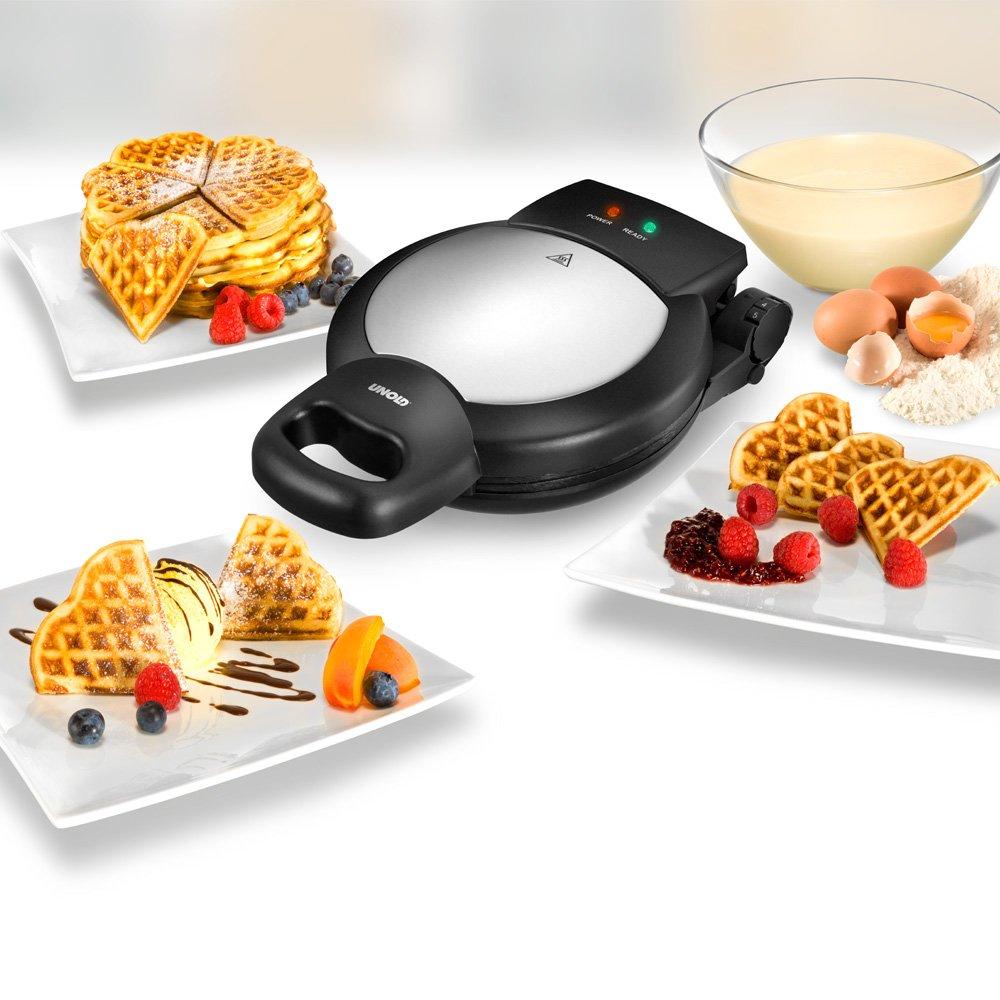 Unold 48215 5waffle 1000W Nero Acciaio inossidabile piastra per waffle