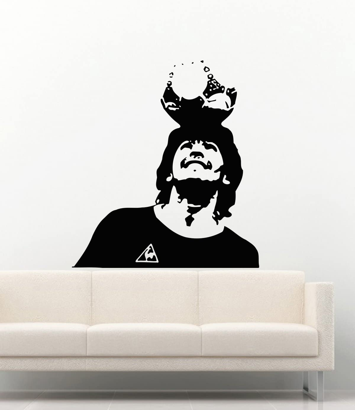 football Diego Armando Maradona wall sticker home decor soccer sports in room