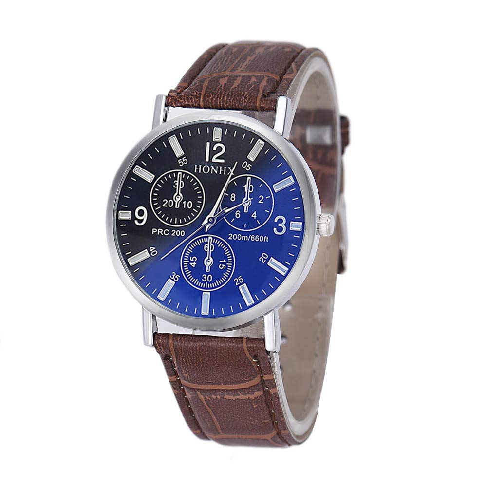 Zaidern Watches Men,Men's Watch Luxury Casual Quartz Analog Wristwatches Classical Blu-Ray Dress Retro Simple Design Waterproof Crocodile Faux Leather Band Round Dial Wrist Watches Clock Black