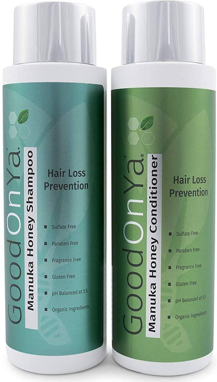 Thickening Biotin Shampoo and Conditioner for Hair Growth - Volumizing Shampoo and Conditioner with Manuka Honey - Natural and Organic Hair Loss Treatment - Safe for Color Treated Hair (16 oz) by GOOD ON YA'