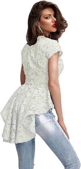 New Ladies blanco cola de sirena Encaje de flores camisa Club Wear Tops Casual Wear ropa tamaño M UK 10 – 12: Amazon.es: Bricolaje y herramientas