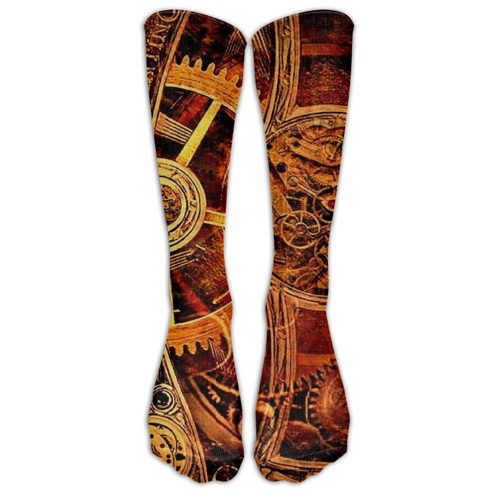 Style Unisex Socks Casual Knee High Stockings Steampunk Watch Cotton Socks One Size