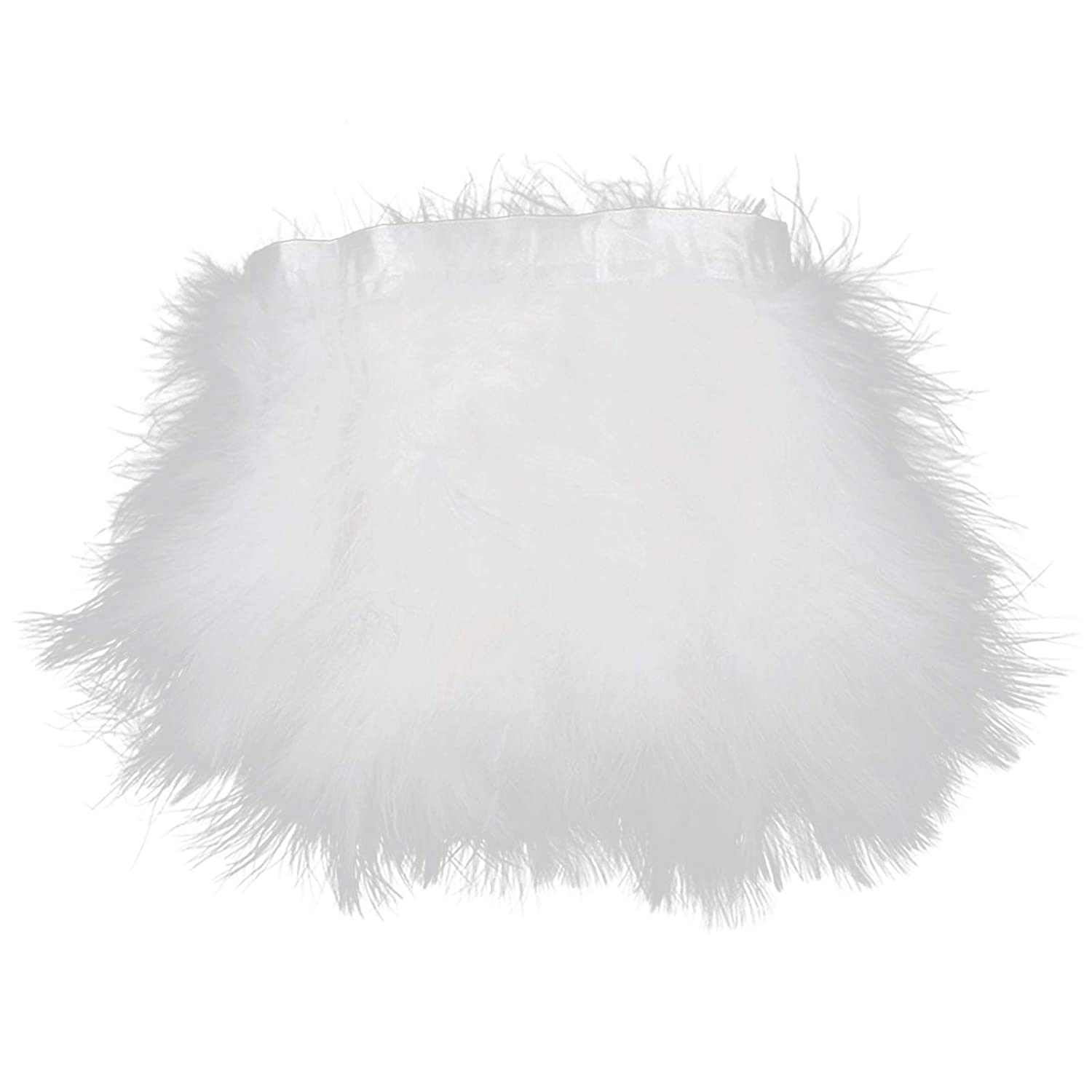 Purple AWAYTR Turkey Marabou Hackle Fluffy Feather Fringe Trim Craft 6-8 in Width Pack of 2 Yards