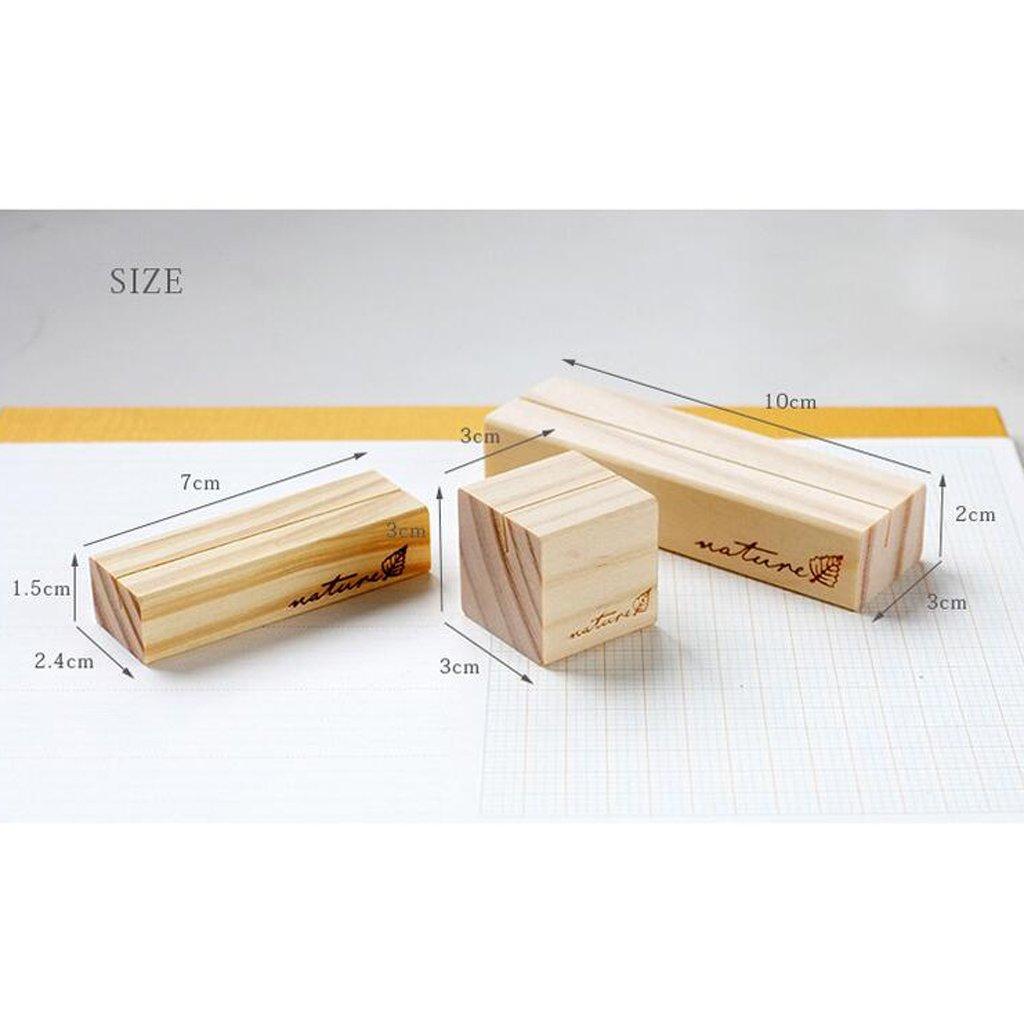 5er Kr/äftiges Holz MagiDeal Kartenhalter aus Holz Memo Halter Hinweis Clip Hochzeit Name Karte Kartenhalter 3 x 3 x 3cm