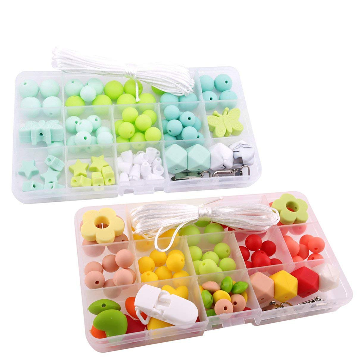Best for baby Silicone Octagonal Beads Kit Baby Teether Set DIY Teething Jewelry Necklace Food Grade Monterey Toys