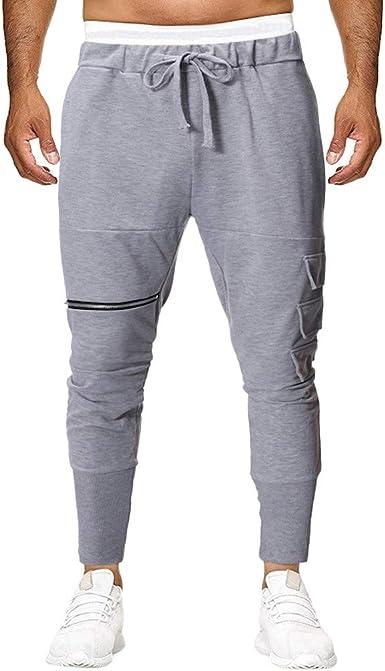 MXJEEIO Pantalones de Hombre Casuales Chino Cinturón de algodón elástico de los Hombres Pantalones de Carga Largos con cordón Bolsillos Laterales Deportivos Pantalones de Jogging Ropa Deportiva: Amazon.es: Ropa y accesorios