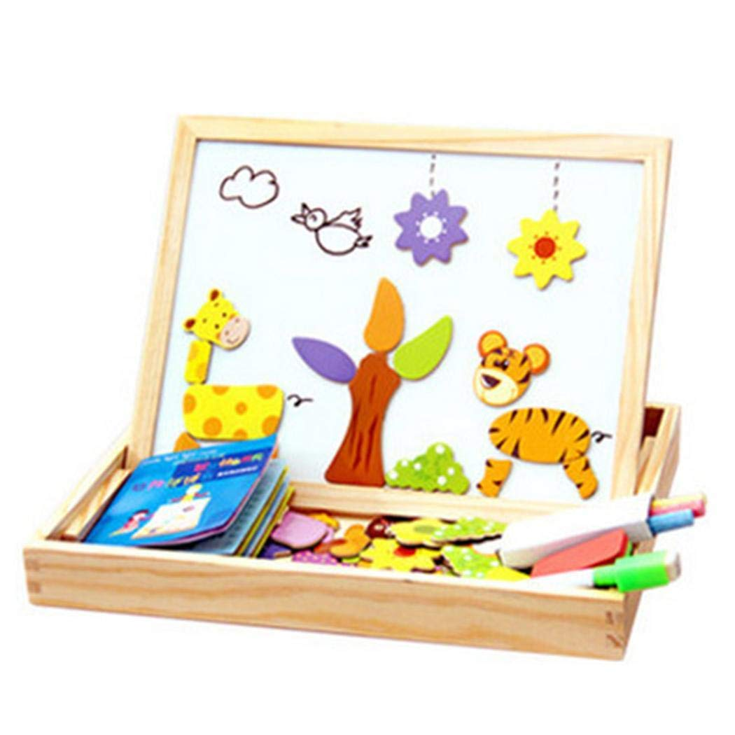 DAZZILYN DIY Magnetic Puzzle, Children DIY Multicolor Three-Dimensional Magnetic Puzzle Toy by DAZZILYN