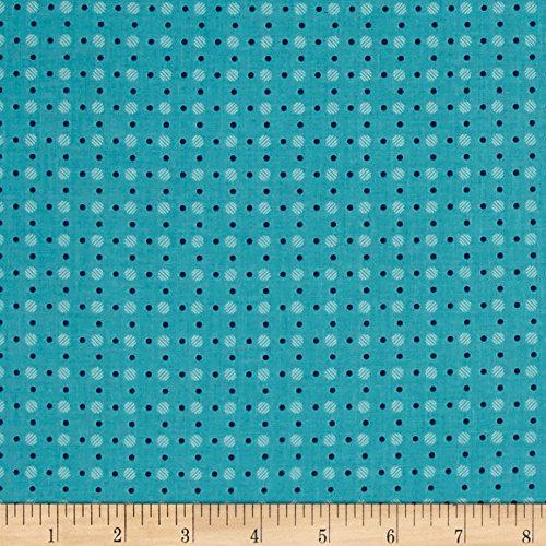 Blue Polka Dot Fabric - Riley Blake Designs Riley Blake Bee Basics Polka Dot Fabric by the Yard, Turquoise