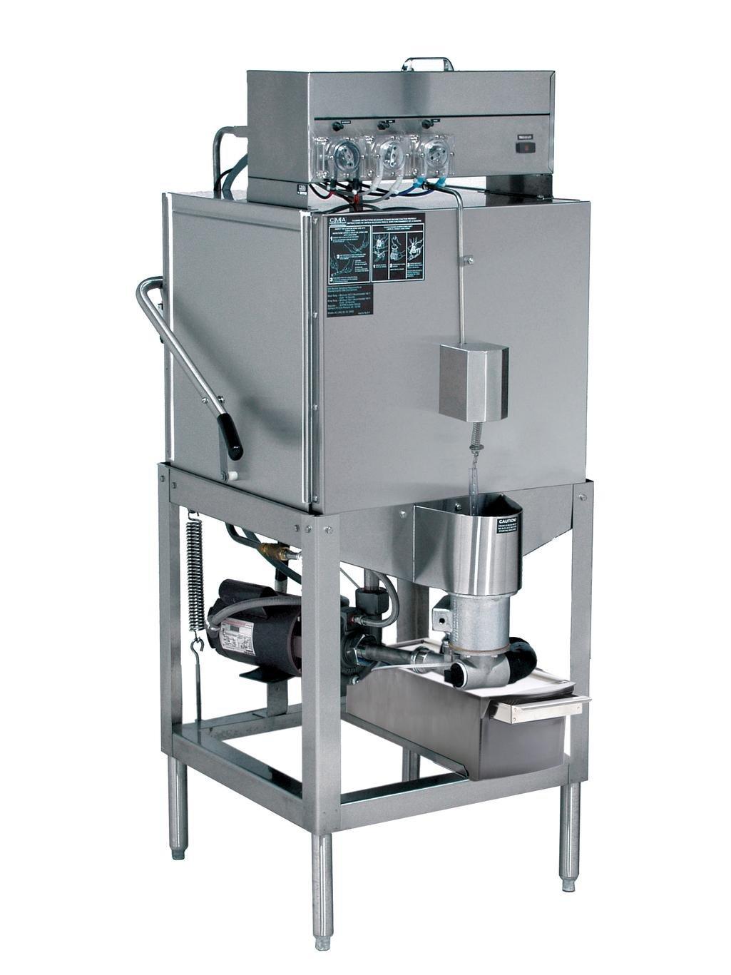CMA Dishmachines - AH - Low Temp 40 Racks Per Hour Door Type Straight Dishwasher