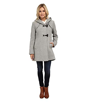 Jessica Simpson Womens Braided Wool Duffle Coat with Hood at