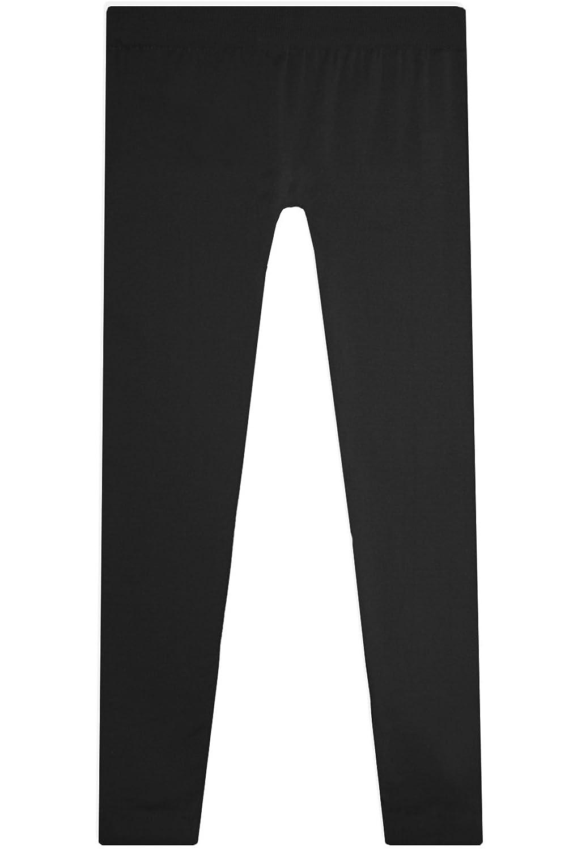 404d672ef56cc Basico Womens Full-Length Seamless Footless Leggings (Black) at Amazon  Women's Clothing store: