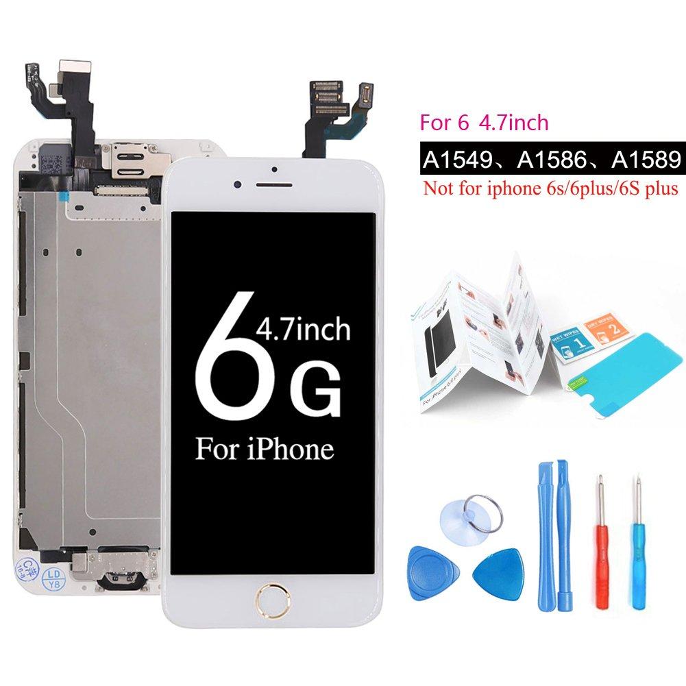 Ibaye Screen Replacement For iPhone 6 Digitizer LCD Display White Full Repair Tools1