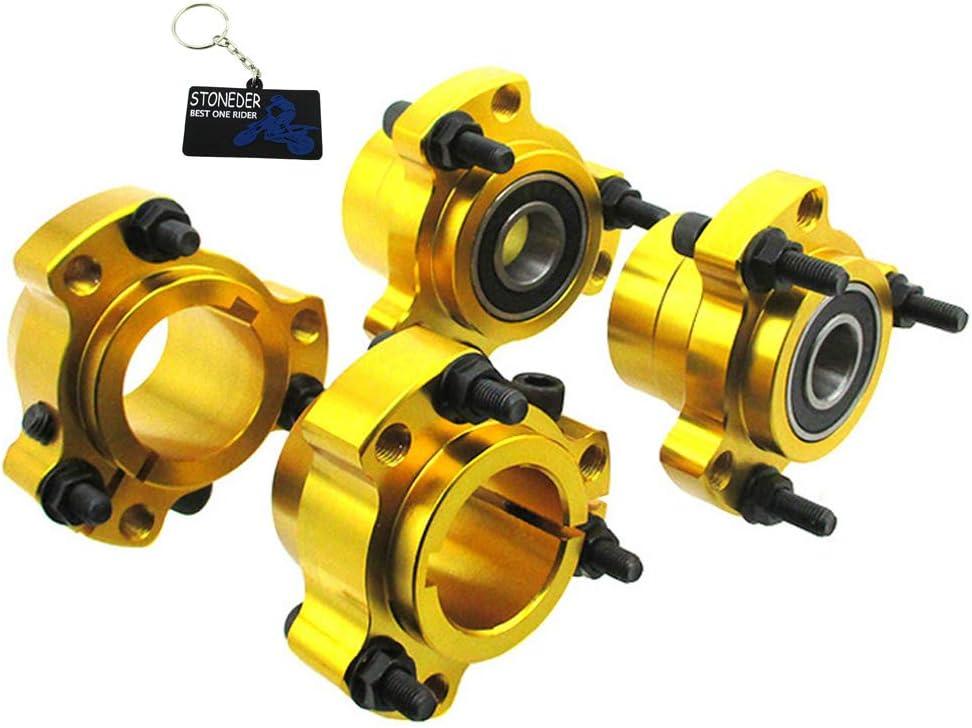 Stoneder Gold Radnabe Vorne 1 1 4 32mm Hinten 1 4 Schrauben Für Go Kart Cart Auto