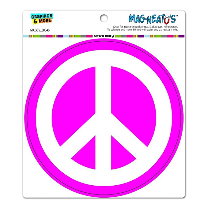peace sign symbol white pink circle mag neato s tm automotive car