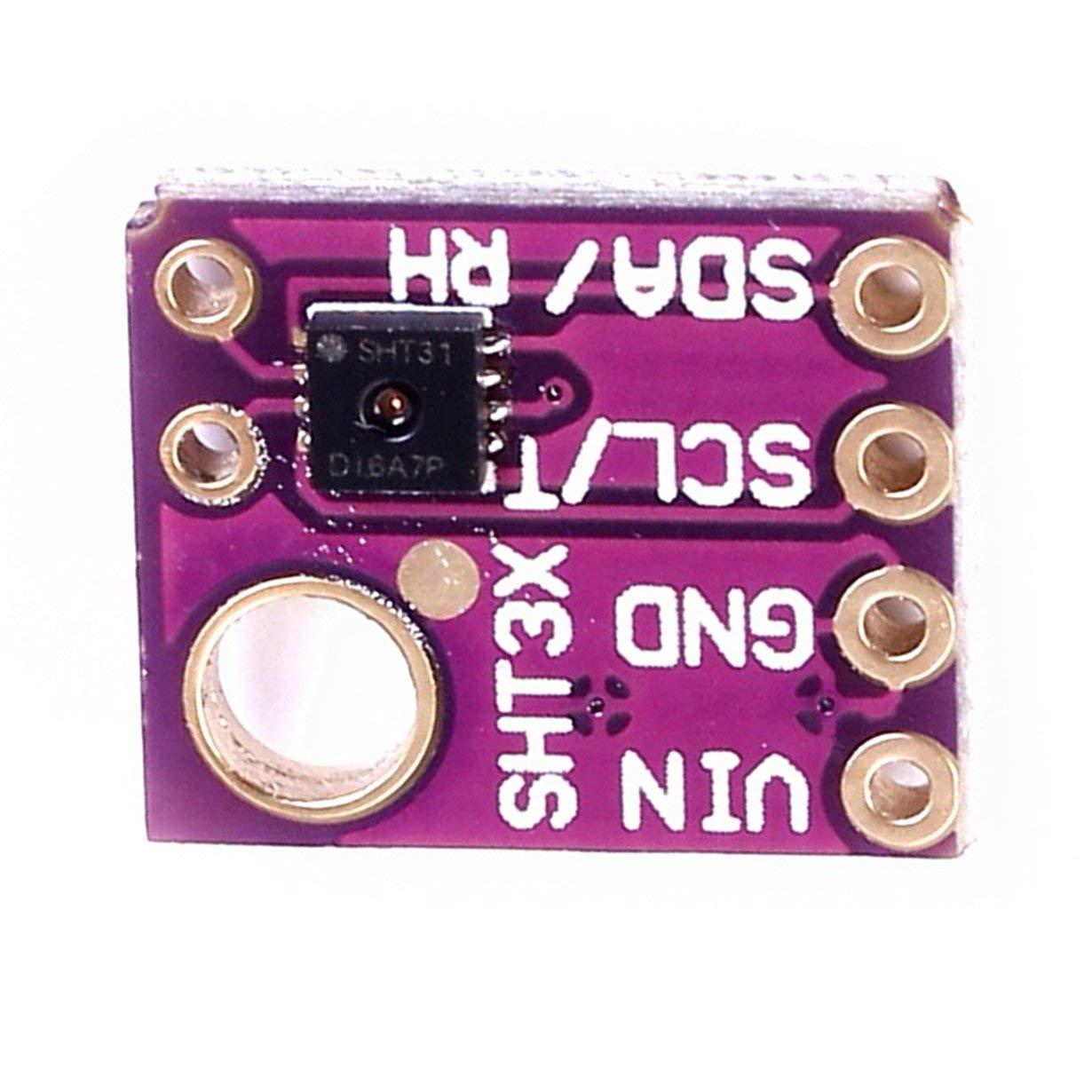 Camellia SHT30 SHT30-D Temperatura Humedad Sensor Tiempo de Arranque para Arduino I2C Interfaz M/ódulo de Sensor Digital p/úrpura