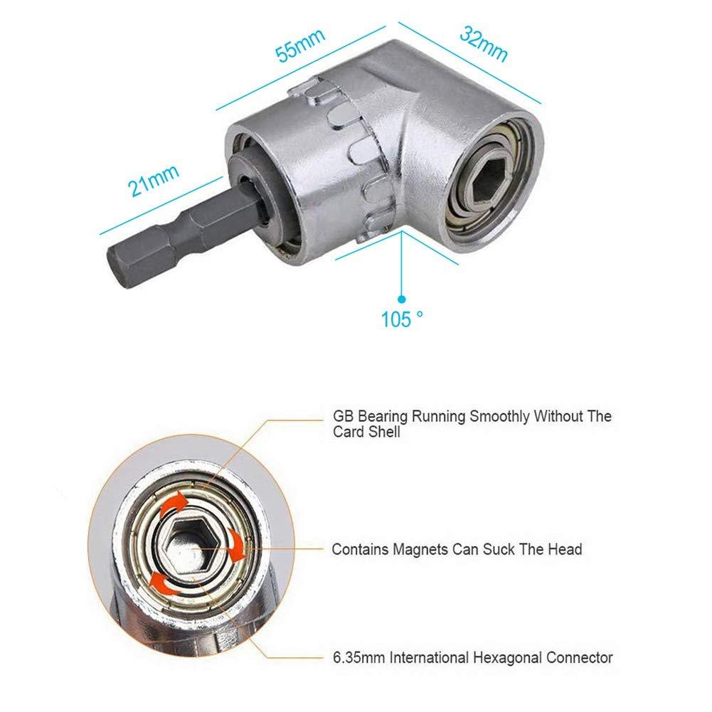 Mobiut Bohrerhalter Set,1ST/ÜCKE Flexible Bohrer-Verl/ängerung,Winkelbohrer-Adapter+3 ST/ÜCKE Schlagschrauber-Bits,Schraubendreher-Bit-Halter-1//4 Sechskantschaft Verl/ängerungsstange Sockel-Adapter-Bohrer