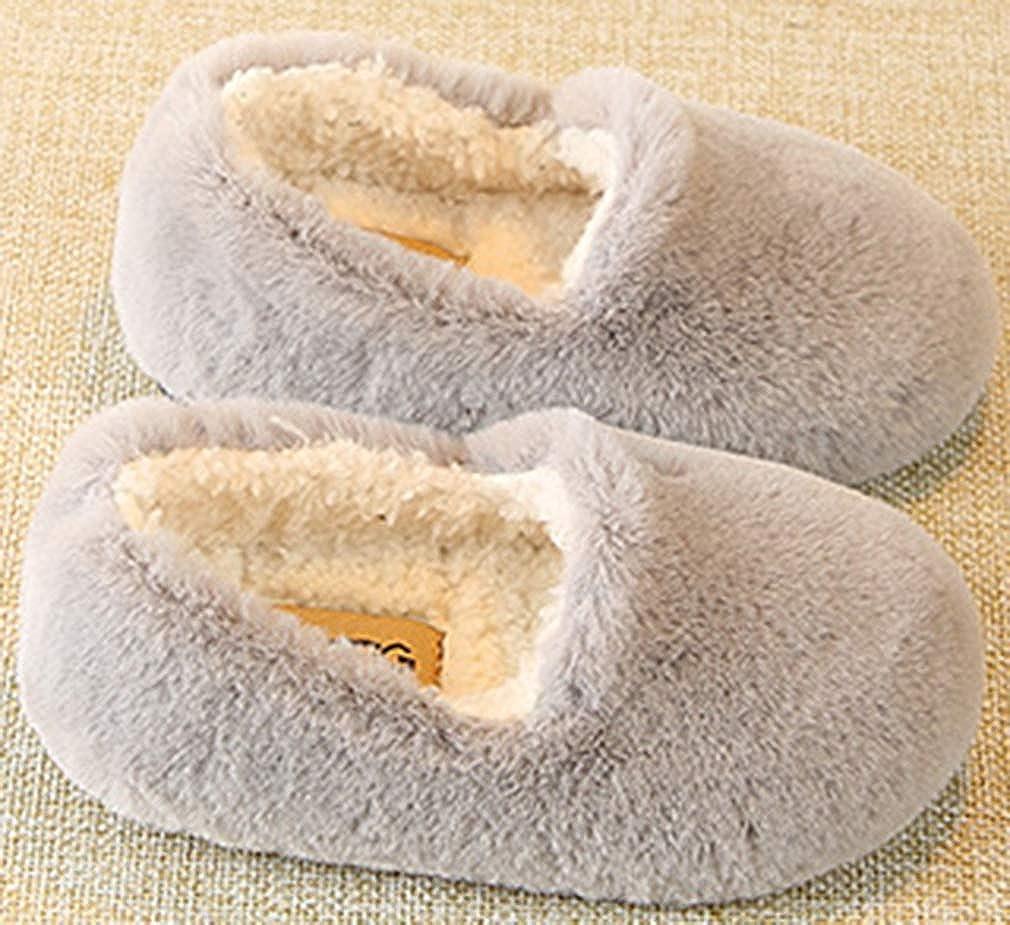 VECJUNIA Boys Girls Toddler//Little Kid Slip On Fluffy Slippers Winter Autumn Shoes Indoor
