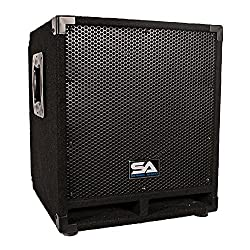 Seismic Audio Mini-Tremor Powered 12-Inch Pro Audio/DJ Subwoofer Cabinet Active 12-Inch Subwoofer from Seismic Audio Speakers, Inc.