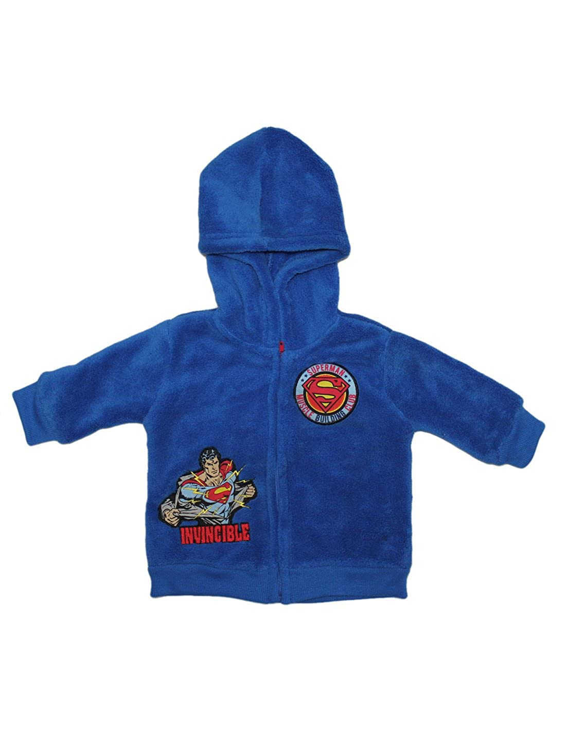 DC Comics Superman Character enfant Zip-Up Polar Fleece Hoodie Jacket Outerwear