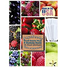 Fruit Combo Pack Raspberry, Blackberry, Blueberry, Strawberry, Apple, Mulberry, Huckleberry, Grape (Organic) 685+ Seeds 662187742564