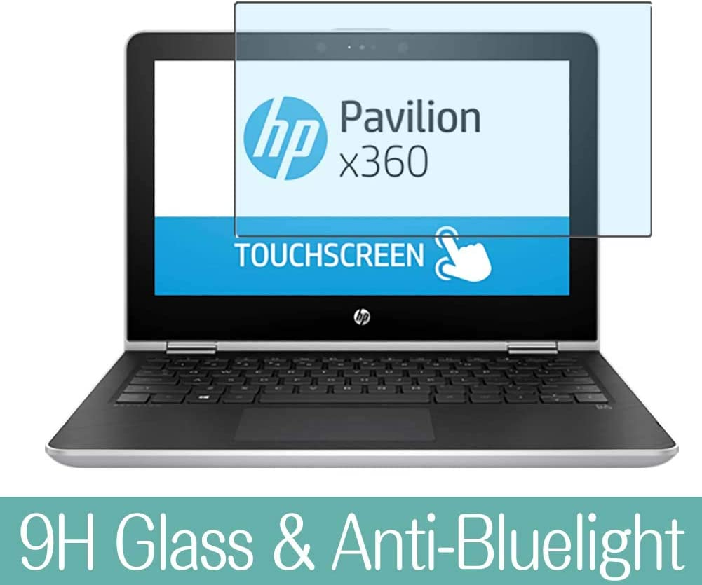 "Synvy Anti Blue Light Tempered Glass Screen Protector for HP Pavilion x360 14m-ba100 / ba114dx 14"" Visible Area 9H Protective Screen Film Protectors"