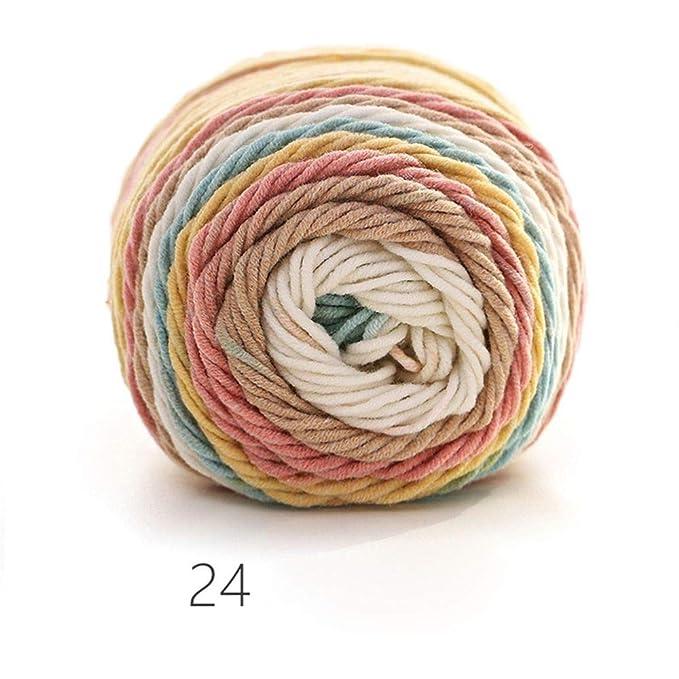 Hilo de algodón Tejido a Mano de Color Arco Iris, Suave, de ...