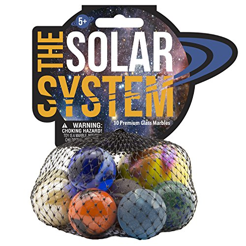 MegaFun USA Solar System Game Net Glass Marbles