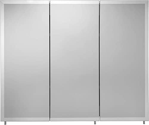 Croydex WC102322AZ Westbourne Triple Door Tri-View Cabinet, 30-Inch x 36-Inch, White
