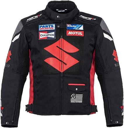 Blouson de Racing de Moto en Cuir Noir