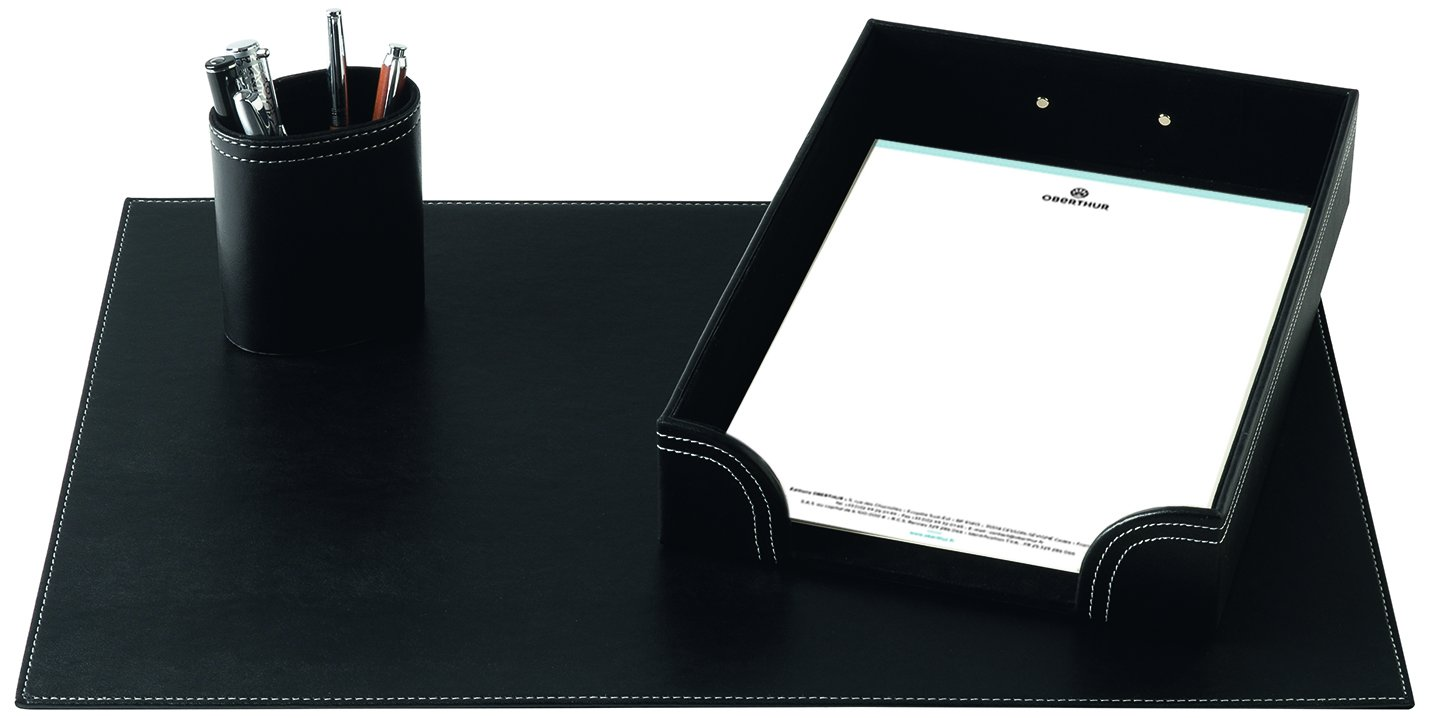 Editions Oberthur Set Buro –  Set di 3 scrivania nero 466701.0
