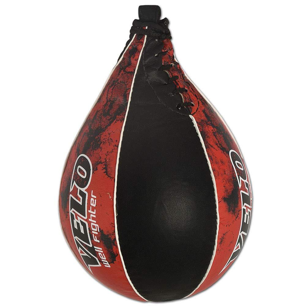 Velo Speed Ball Boxing Leather MMA Muay Thai Training Punching Dodge Striking Bag Kit Hanging Swivel Workout Speedball Kicking Platform