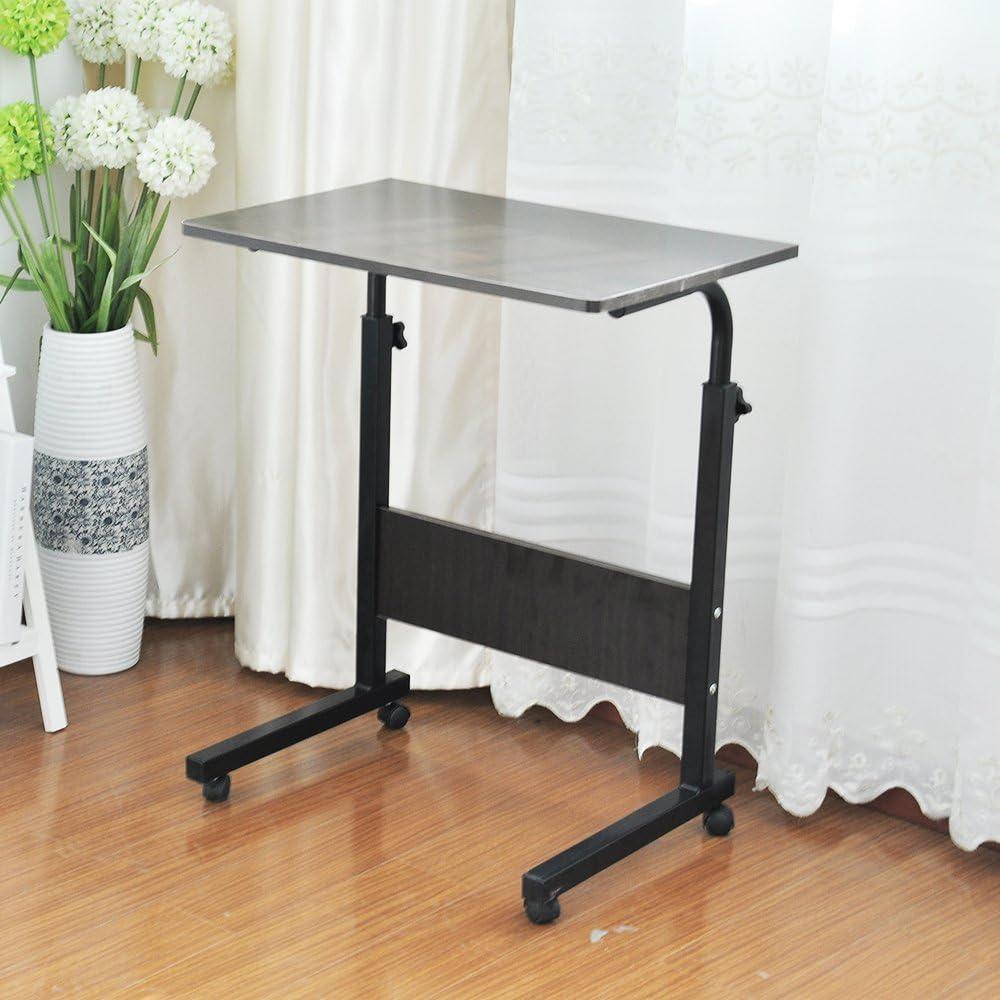 Nero 05#1-60BK-BH 40cm Laptop Table Tavolino Altezza Regolabile Portatile Tavolino per Laptop Tavolo per Computer Tavolino da Scrivania sogesfurniture 60