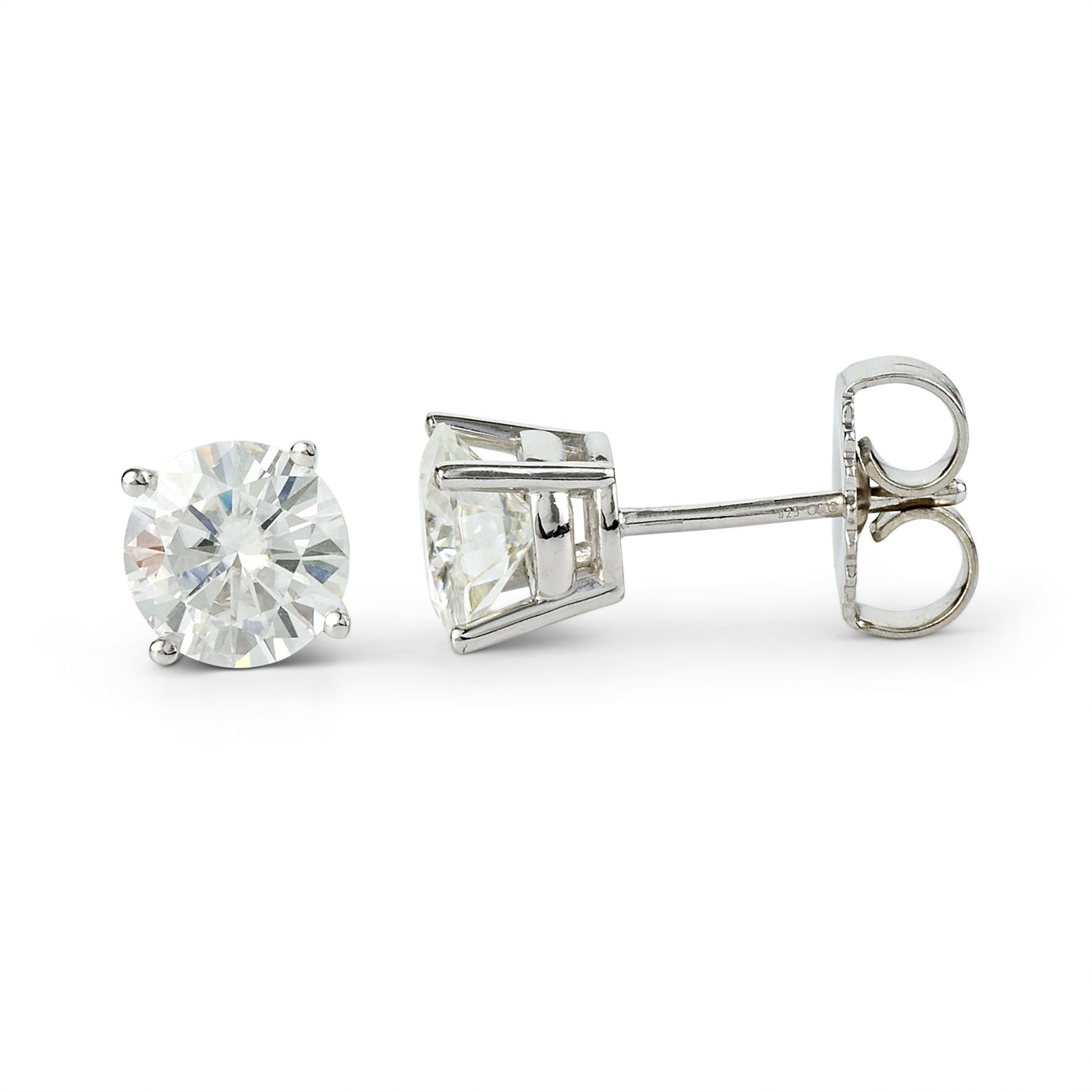 earrings moissanite gift poshclassymom and day ideas stud studs colvard valentines diamond charles