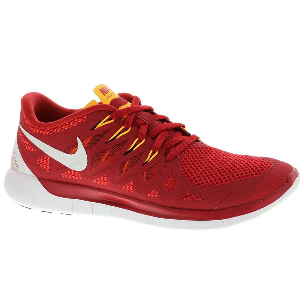 213e8cb575 Nike Free 5.0 Men s Running Shoes Sneakers Gym Red Light  Crimson Kumquat White 12.5 D(M) US  Buy Online at Low Prices in India -  Amazon.in
