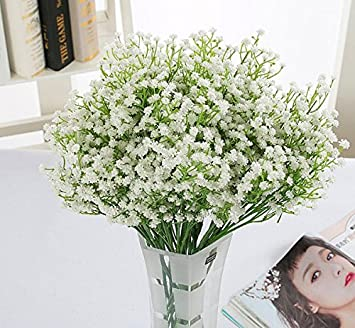Amazon hilingo artificial baby breathgypsophila wedding hilingo artificial baby breathgypsophila wedding decoration flower white colour flowers real touch flowers pu mightylinksfo