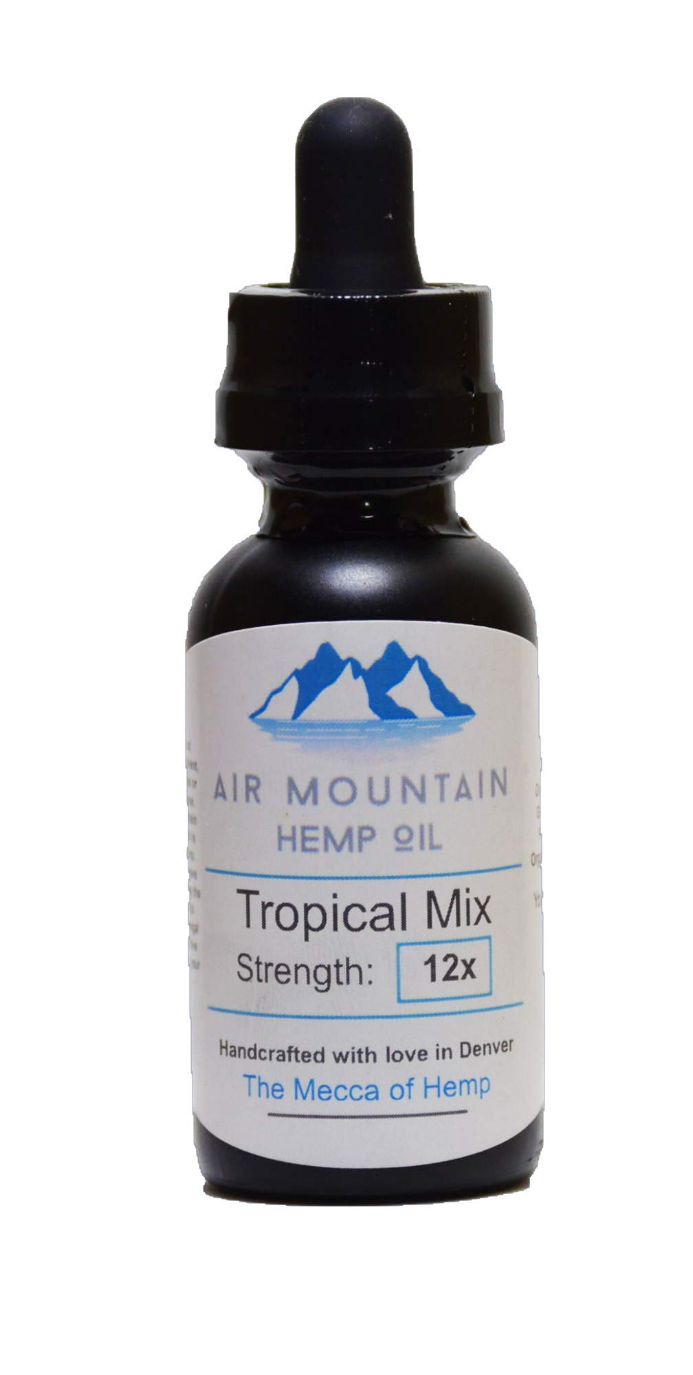 Air Mountain Hemp Oil [Tropical Mix] [Strength: 12] - Anxiety Relief - Social Anxiety Relief - Depersonalization Relief