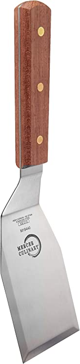 Mercer Culinary Praxis 6 x 3-Inch Fish Turner Stainless Steel cm Wood Handle