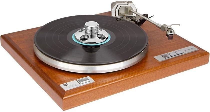 Golden LP Record Disc Stabilizer Edelstahl Turntable Clamp Audio BL