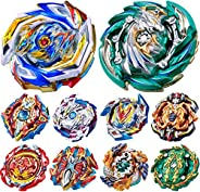 Gyros 10 Pieces Pack, Battling Top Battle Burst High Performance Set, Birthday Party School Gift Idea Toys for