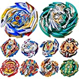 Gyros 10 Pieces Pack, Battling Top Battle Burst High Performance Set, Birthday Party School Gift Idea Toys for Boys Kids Children Age 8+