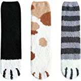 UpKiwi Fuzzy Cat Paw Sleep Socks - Comfy Fashion Accessories and Gifts for Women, Teenager, Girls